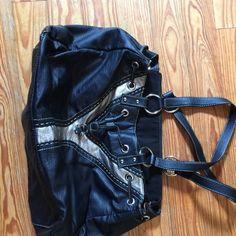 Purse Black & silver leather purse Bags Shoulder Bags