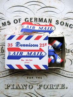 Vintage Dennison Air Mail Labels