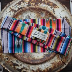 Who doesn't love serape print? Headband is handmade in Texas by Pearls & Ponies!