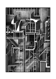 "drawingarchitecture: "" Matt Sawyer, ""Chamber of Initiations"", Mixed Media, 2016. """