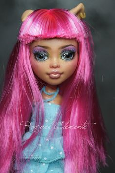 Monster high repaint custom faceup Howleen by SweetDollShop