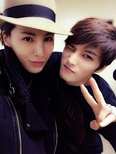 Kim Jaejoong's twitter with No Min Woo (150126)