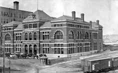 St. Paul, Minnesota's first Union Depot from 1881. Unfortunately, it only lasted about 32 years before being claimed by a fire in 1913.