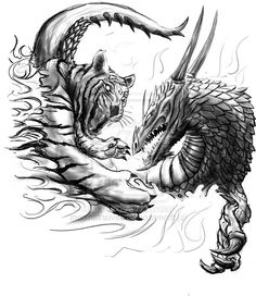 dragon and tiger tattoo | Tiger_vs_Dragon_Tattoo_design_by_thompson46.jpg 01-Aug-2009 21:55 205k