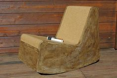 Cardboard and cork rocking chair