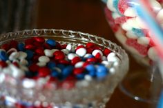 4th of July Candy Buffet Sweethearts  Co. Lapeer Michigan red white blue chocolate