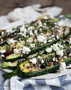 Grilled Zucchini with Balsamic Glaze, Basil, and Feta Bbq Zucchini, Grilled Zucchini Recipes, Zucchini Side Dishes, Zuchinni Recipes, Side Dishes For Bbq, Grilled Pizza, Grilling Recipes, Vegetarian Grilling, Healthy Grilling