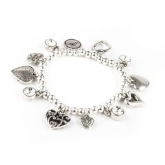 NEW 2014 stock Bibi Bijoux, heart and crystal charm bracelet | eBay