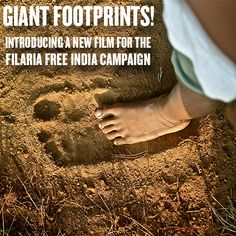 Where do the giant footprints lead? Watch our latest video, created with Ogilvy, for the Filaria Free India Campaign. https://www.youtube.com/watch?v=YVReT7Kyoys&feature=youtu.be