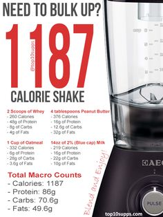 This is my own personal protein shake recipe designed for weight gain. It is…