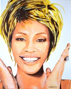 Whitney Houston   Original Limited Signed Edition Art Prints are available for $ 35.  www.victorminca.com