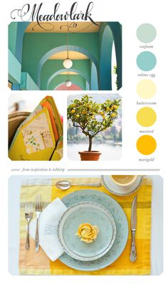 Summer meadow - paint colors