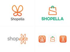 Logo options for 'Shopella'. I like option 2 whereas the client prefers option Essay Writing Tips, Essay Prompts, Typography App, Order Form Template Free, Butterfly Logo, Essay Template, Writing A Research Proposal, Nursing Research