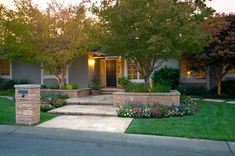 front yard landscaping ideas Exterior Contemporary with lawn entry