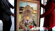 3d lenticular printing,üç boyutlu baskı,3d leopard poster,three dimensions advertising,billboard,morph,animation