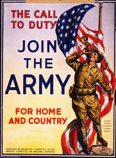 Vintage Wwi American Join The Us Army Recruitment War Poster Re-Print Wilhelm Ii, Kaiser Wilhelm, Army Usa, Us Army, Army Recruitment, Memento, Joining The Army, Army Life, Thing 1