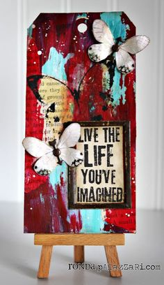 Life Tag by Ronda Palazzari--- Petroleum Jelly?  A new technique for sure! Awesome details to create yourself...go Ronda!!!