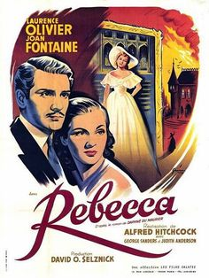 Rebecca (1940) Laurence Olivier and Joan Fontaine from Daphne du Maurier's novel of the same name