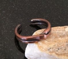 Copper Ring - R006P Adjustable Crossed Double Bar Patina Pure Copper Ring by CopperMillDesigns on Etsy https://www.etsy.com/listing/244659130/copper-ring-r006p-adjustable-crossed