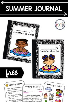 Give your kids the gift of writing with these summer journals! Kids will love writing throughout the summer while preventing the summer slide! Included in this freebie are a multiple front covers to choose from, writing ideas and topics print outs and an example letter! This visual guide will get kids so excited to write all summer long! #summerwriting #summerjournal School 2017, Summer School, Writing Topics, Writing Ideas, Kindergarten Writing Activities, Summer Journal, Playdough To Plato, Things Kids Say, You Are Wonderful