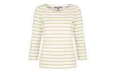 Green Stripe Three-Quarter Sleeve Top at Laura Ashley