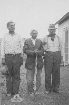 L-R: One Feather, Weasel Bear, Bede Hawk - Hunkpapa - 1932