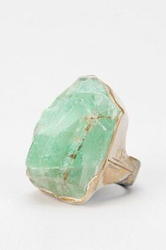 Adina Mills Calcite Ring from Urban Outfitters. Saved to Accessories. I Love Jewelry, Stone Jewelry, Jewelry Rings, Jewelry Box, Jewelry Accessories, Jewelry Making, Rock Jewelry, Jewellery, Bijoux Design