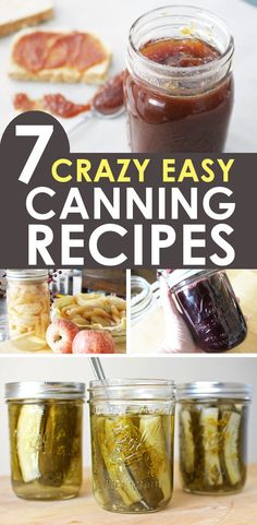 Water bath canning for beginners is simple with these 7 easy canning recipes! Learn to water bath can jams, jellies, pickles, and more! Pressure Canning Recipes, Home Canning Recipes, Jam Recipes, Real Food Recipes, Cooking Recipes, Easy Canning, Tomato Canning, Canning 101, Canned Tomato Sauce