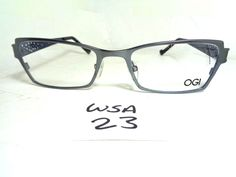1d5c7e49cb New OGI Eyeglass Frame Evolution 3066 1073 Navy Gray Rectangular (WSA-23)