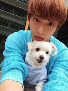 So cute!!! Minhyuk and the dog...