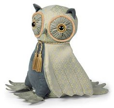 Posh Lord Oliver Wise Owl Doorstop By Dora Designs - A Bentley Cushions Streamer Backdrop, Paper Streamers, Owl Doorstop, Owl Cushion, Tropical Party Decorations, Dora, Little Greene, Fabric Garland, Owl Crafts