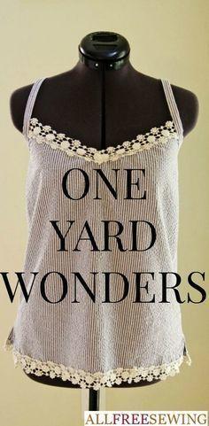 Sewing: ONE YARD WONDERS