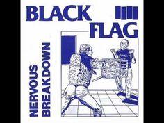 Raymond Pettibon's cover for Black Flag by Nervous Breakdown, Courtesy of TASCHEN. Blue Oyster Cult, Radios, Eddie Cochran, Raymond Pettibon, Nervous Breakdown, Mental Breakdown, Pochette Album, Hermosa Beach, Album Design