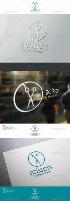 Scissors  Barber Shop Logo Template — Vector EPS #creative #hair haircut • Download here → https://graphicriver.net/item/scissors-barber-shop-logo-template/8096131?ref=pxcr