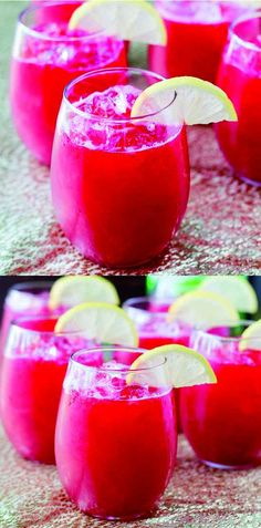 RASPBERRY LEMONADE FIZZ - dessert, ginger, juice, lemon, raspberry, recipes