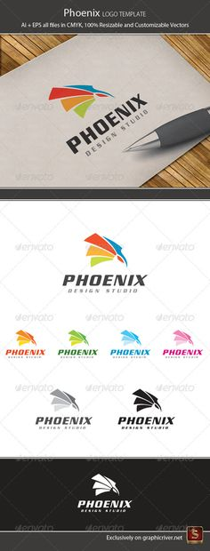 Phoenix Design Logo Template — Vector EPS #brand #identity • Available here → https://graphicriver.net/item/phoenix-design-logo-template/1378456?ref=pxcr