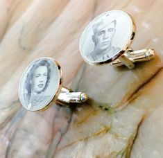 Photo CuffLinks Your Photo picture Cuff Links Memories Sterling Silver Cufflinks, Custom Ties, Expensive Jewelry, Engagement Gifts, Solitaire Engagement, Custom Leather, Photo Jewelry, Gifts For Dad, Husband Gifts