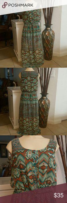 Misses Dress Nice Design!! Beautiful Colors Combination! Dresses Maxi
