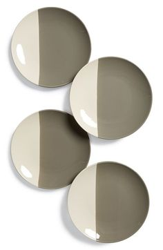 Gibson Half Dipped Dessert Plates - Nordstrom