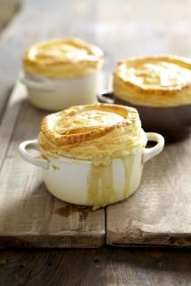 Puff pastry topped chicken pie