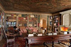 Rustic Office/Library by Studio Peregalli in Saint Moritz, Switzerland