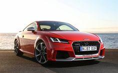 Descargar fondos de pantalla Audi TT, 2017, Sports coupe, rojo TT, los coches alemanes, el Audi