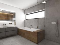 Moderní koupelna GRIS - Pohled od toalety