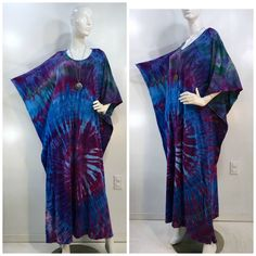 Ice dyed one size bamboo blend caftan, kaftan. by qualicumclothworks on Etsy Ice Dyeing, Caftans, Brim Hat, Coral Pink, Sun Hats, Cotton Spandex, Bamboo, Overalls, Tie Dye