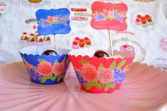 Printable Cup Cake Wrappers & Toppers Floral by OxfordDownloads https://www.etsy.com/uk/listing/277214244/printable-cup-cake-wrappers-toppers?utm_source=Pinterest&utm_medium=PageTools&utm_campaign=Share