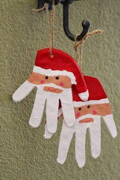 We're making these next time we make Salt Dough Ornaments… - Salzteig Rezepte Christmas Arts And Crafts, Preschool Christmas, Noel Christmas, All Things Christmas, Holiday Crafts, Christmas Gifts, Christmas Decorations, Christmas Ornaments, Father Christmas
