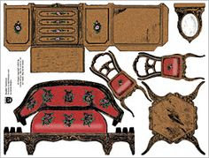 Boudoir Furniture Collage Sheet
