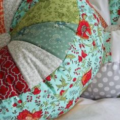 Pie style floor cushions - the most fun patchwork project to date! Giant, colourful and oh so comfy! We love these!