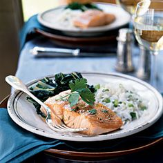 100 Ways to Cook with Salmon | Slow-Roasted Salmon with Bok Choy and Coconut Rice | CookingLight.com