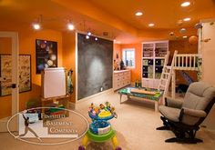 basement playroom @Jennifer Riney Lucas told me he would like his playroom to look like this.